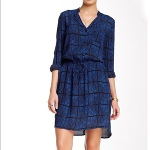 Lucky Brand Everyday Print Shirt Dress Size M